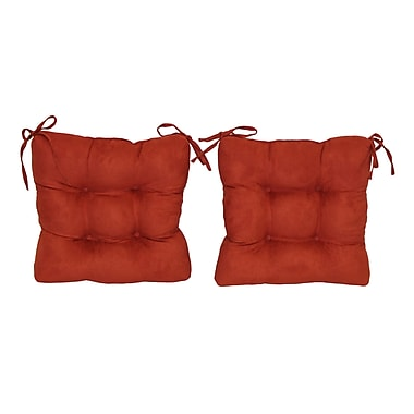 Blazing Needles Outdoor Lounge Chair Cushion (Set of 2); Wheat
