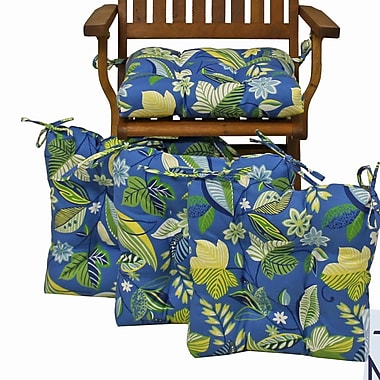 Blazing Needles Outdoor Adirondack Chair Cushion (Set of 4); Skyworks