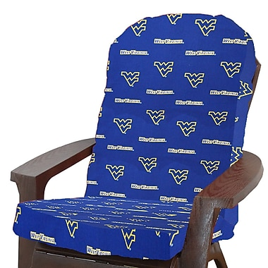 College Covers NCAA West Virginia Outdoor Adirondack Chair Cushion