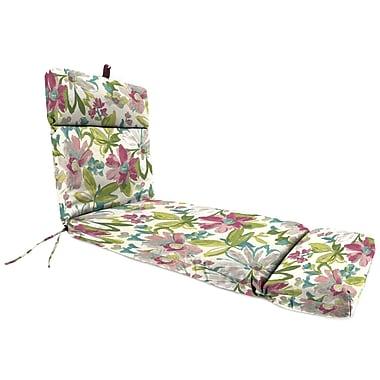 Jordan Manufacturing Universal Outdoor Chaise Lounge Cushion; Elberta White