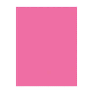 Pacon – Papier cartonné, 8,5 x 11 po, rose vif, 100 Ct, 200/paquet (PAC101174)
