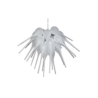 Pangea Home 1-Light Cluster Pendant; Frost