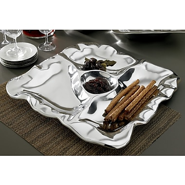 Kindwer Square Free Form 4-Section Tray