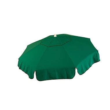 Parasol Italian 6' Drape Umbrella; Green