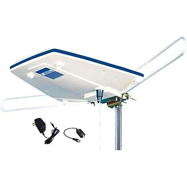 Electronic Master – Antenne numérique extérieure pour téléviseur HD, 17 x 14 x 3 po, blanc
