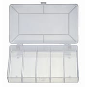 """HVTools Electronic Component Box, Square Inner Box, 7"""" x 4"""" x 1"""", Clear"""