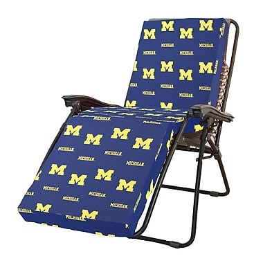College Covers NCAA Michigan Outdoor Chaise Lounge Cushion