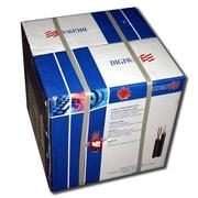 Digiwave – Câble coaxial RG59 de 500 pi avec 2 câbles d'alimentation, 13 x 13 x 13 po, blanc