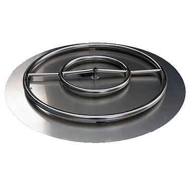 ETCO Stainless Steel Ring Burner Fire Pit Kit