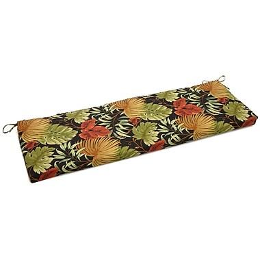 Blazing Needles Tropique Outdoor Bench Cushion; 3.5'' H x 54'' W x 19'' D