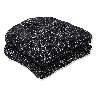 Pillow Perfect Conran Outdoor Dining Chair Cushion (Set of 2); Conran Black