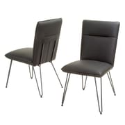 Home Loft Concepts Lewisvielle Parsons Chair (Set of 2); Black