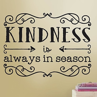 Room Mates Deco Kindness Quote Wall Decal WYF078277933143