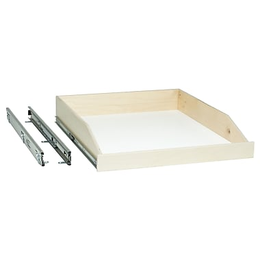 Slide-A-Shelf Full Extension Baltic Birch Slide-Out Shelf, 18'' wide by 18.5'' deep by 4.25'' high