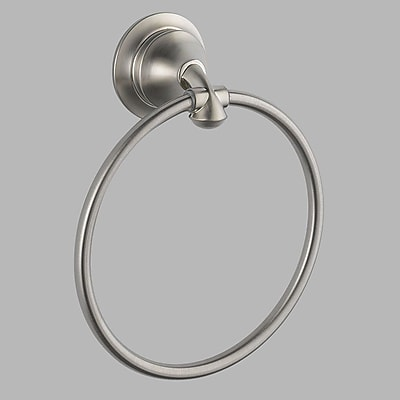 Delta Linden Towel Ring; Brilliance Stainless