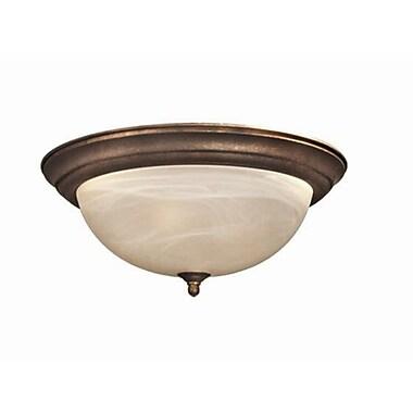 Woodbridge Anson 2-Light Flush Mount; Marbled Bronze