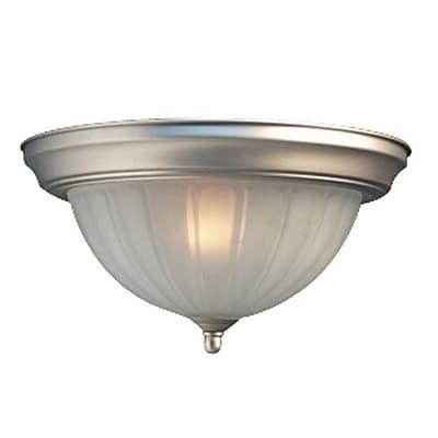 Woodbridge Basic 1-Light Flush Mount; Satin Nickel