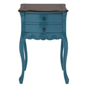 Woodland Imports Teana End Table; Sky Blue / Brown