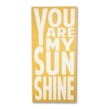 BarnOwlPrimitives You Are My Sunshine Textual Art Plaque