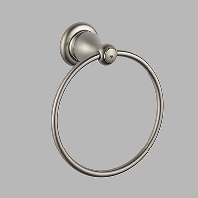 Delta Leland Wall Mounted Towel Ring; Brilliance Stainless