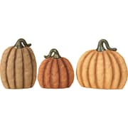 Transpac Imports, Inc Harvest 3 Piece Burlap Pumpkin Set