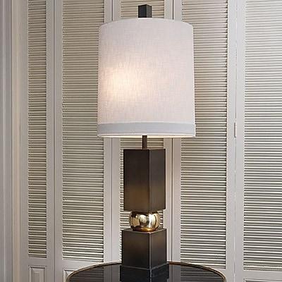 Global Views Organic Squeeze 51.5'' Floor Lamp; Brass / Bronze