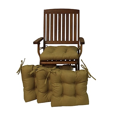 Blazing Needles Outdoor Adirondack Chair Cushion (Set of 4); Papprika