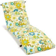 Blazing Needles All Weather UV Resistant Veranda Outdoor Chaise Lounge Cushion
