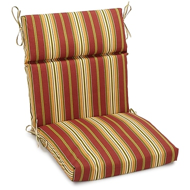 Blazing Needles Kingsley Outdoor Adirondack Chair Cushion; 5'' H x 19'' W x 42'' D