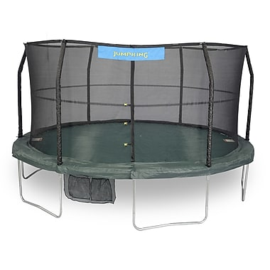 Jumpking 14' Trampoline w/ Enclosure and 84 Springs