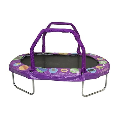 Jumpking Mini Oval Trampoline w/ Pad; Purple