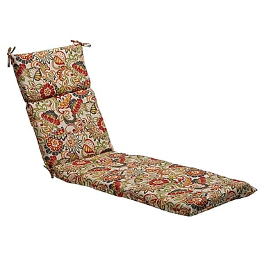 Pillow Perfect Floral Outdoor Chaise Lounge Cushion