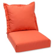 Pillow Perfect Outdoor Lounge Chair Cushion; Melon