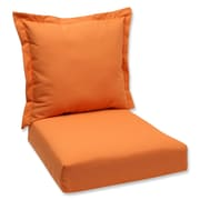 Pillow Perfect Outdoor Lounge Chair Cushion; Orange