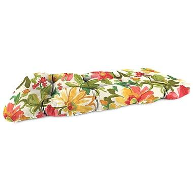 Jordan Manufacturing Outdoor Sofa Cushion; Elberta Sunbright
