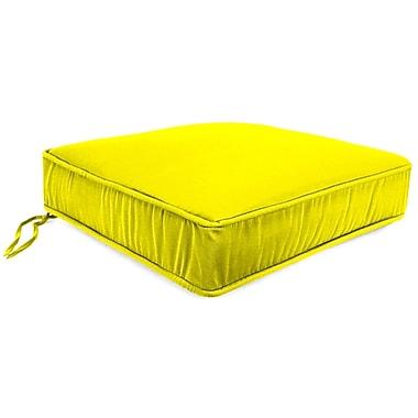 Jordan Manufacturing Outdoor Lounge Chair Cushion; Fresco Yellow