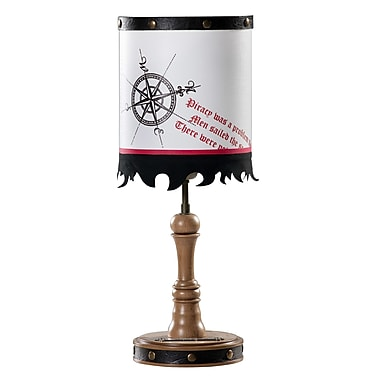 Cilek Pirate 16.5'' H Table Lamp with Drum Shade