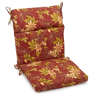 Blazing Needles Passion Outdoor Adirondack Chair Cushion; 5'' H x 19'' W x 42'' D