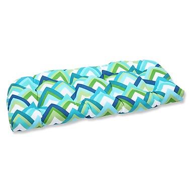 Pillow Perfect Resort Outdoor Loveseat Cushion; Resort Peacock
