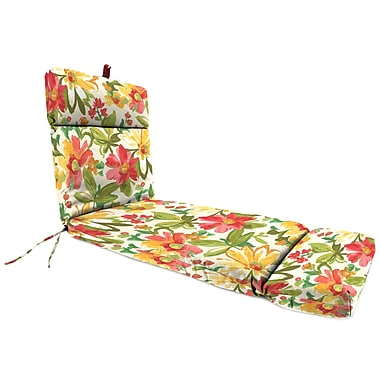Jordan Manufacturing Universal Outdoor Chaise Lounge Cushion; Elberta Sunbright