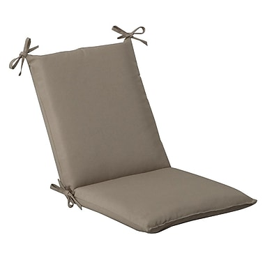 Pillow Perfect Outdoor Lounge Chair Cushion; Beige Solid