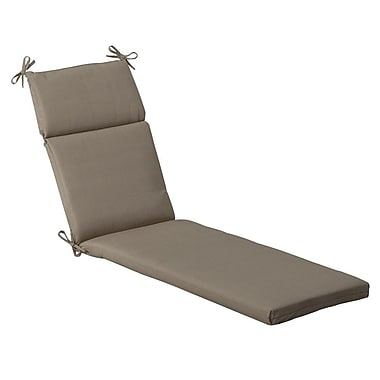Pillow Perfect Solid Outdoor Chaise Lounge Cushion; Beige Solid