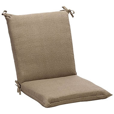 Pillow Perfect Outdoor Outdoor Lounge Chair Cushion; Taupe Textured Solid