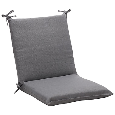 Pillow Perfect Outdoor Outdoor Lounge Chair Cushion; Gray Textured Solid