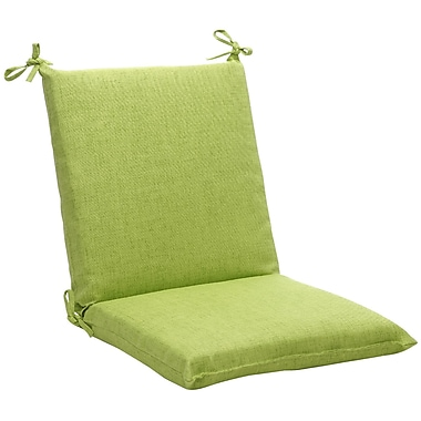 Pillow Perfect Outdoor Outdoor Lounge Chair Cushion; Green Textured Solid