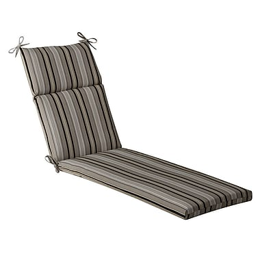 Pillow Perfect Striped Outdoor Chaise Lounge Cushion