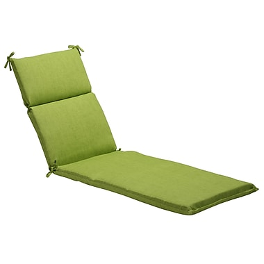 Pillow Perfect Textured Solid Outdoor Chaise Lounge Cushion; Green Textured Solid