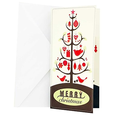 JAM Paper® Christmas Money Cards Set, Merry Christmas Tree, 24/Pack (95228646g)