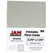 JAM Paper® Printable Place Cards, 1.75 x 3.75, Granite Grey Placecards, 12/pack (225928566)