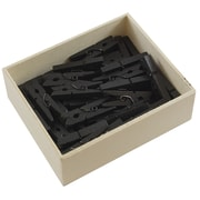JAM Paper® Wood Clothing Pin Clips, Medium 1 1/8, Black, 50/pack (230729141)